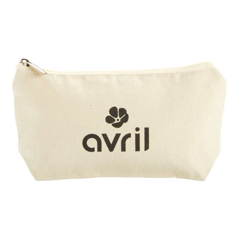 Small make-up case Avril in organic cotton