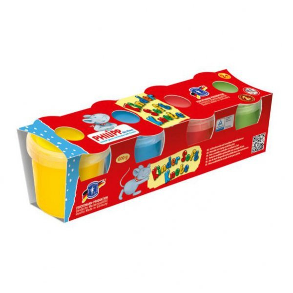 Soft play dough - 4 pots