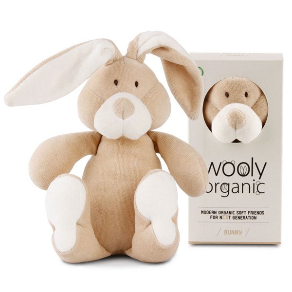 Bunny soft toy in organic cotton