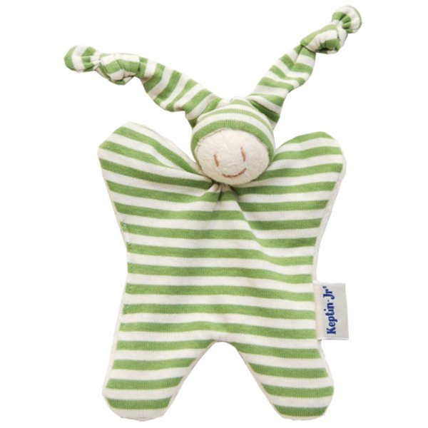 Soft toy in organic cotton with rattle