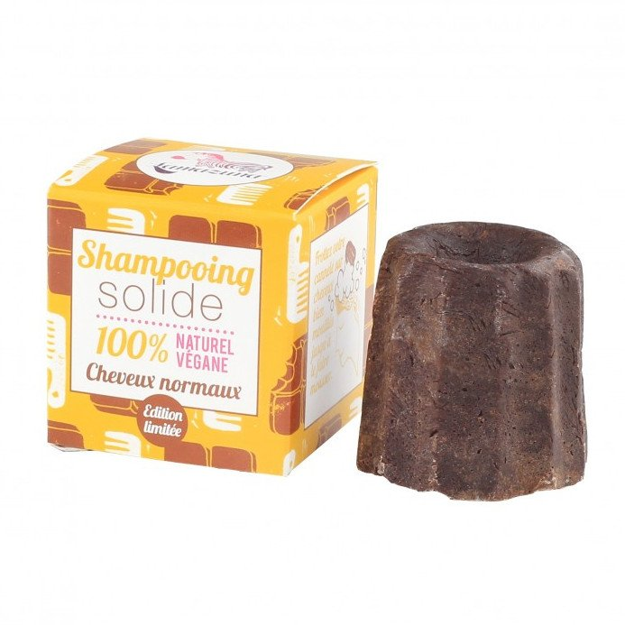 Solid shampoo for normal hair with Chocolate