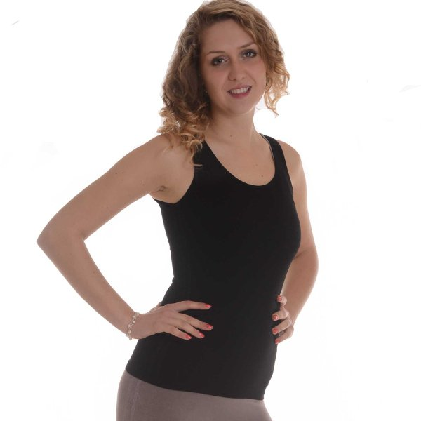 Sport top in bamboo and castor fiber