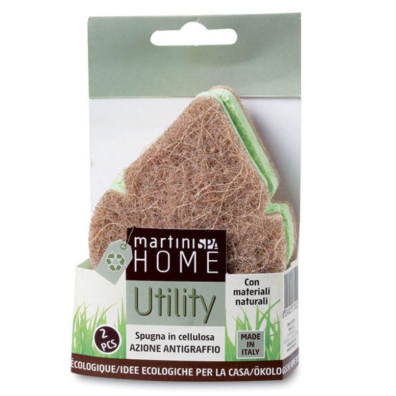 Spugne vegetali antigraffio in cellulosa per la casa