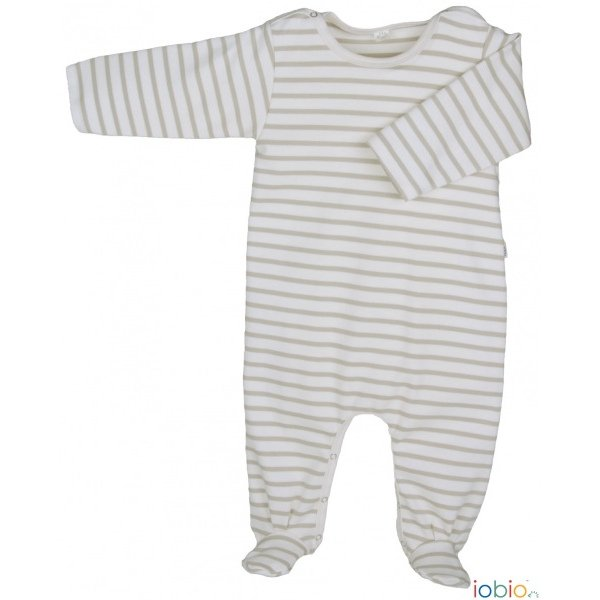 Striped light babysuit