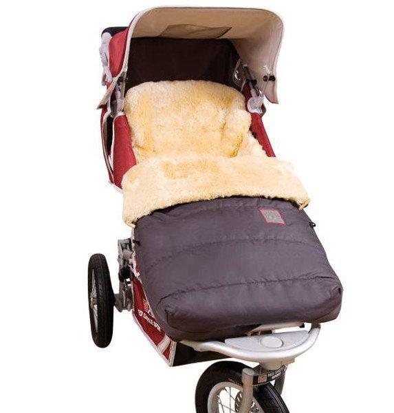 """Stroller footmuff  """"Garmisch"""" in sheepskin"""