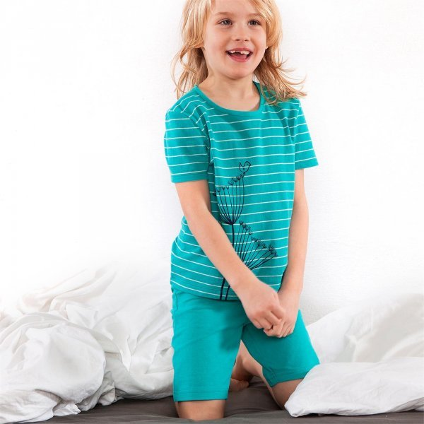 Summer girl pyjama set short in organic cotton