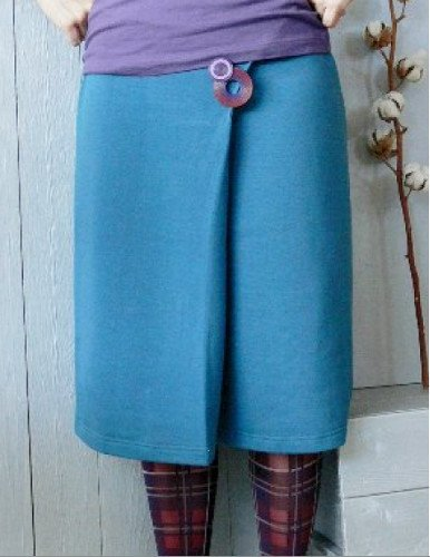 Sural skirt in organic cotton plush