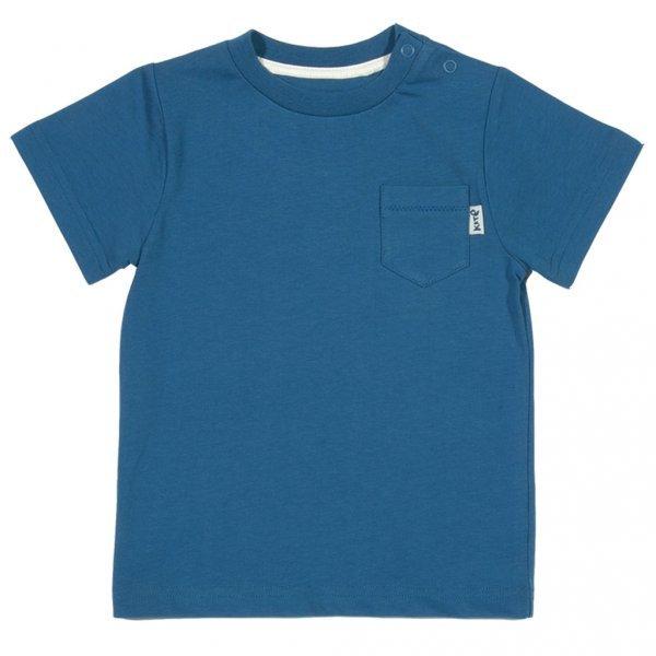 Basic boy blue t-shirt in organic cotton