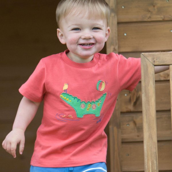T-shirt baby boy Crocodile in organic cotton
