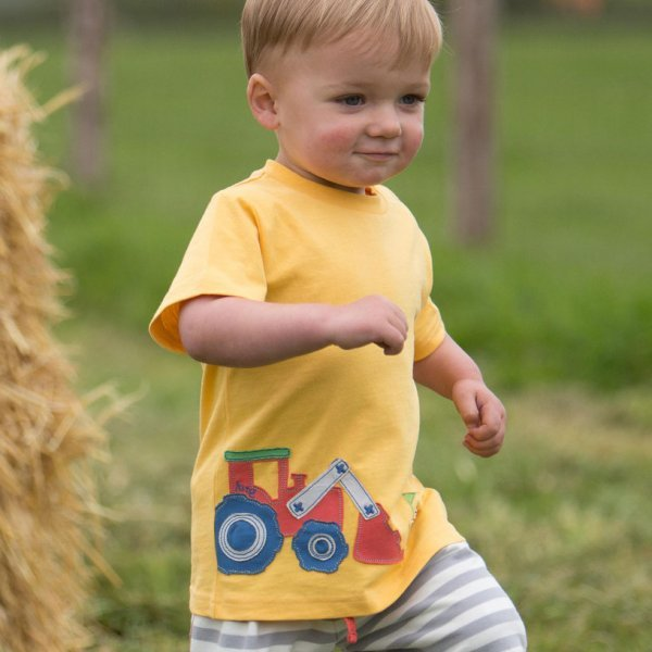 T-shirt baby boy Tractor in organic cotton