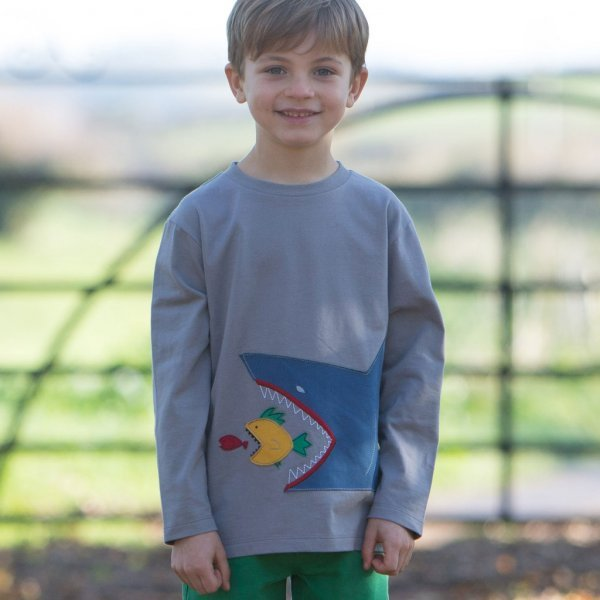 Scary sealife t-shirt in organic cotton