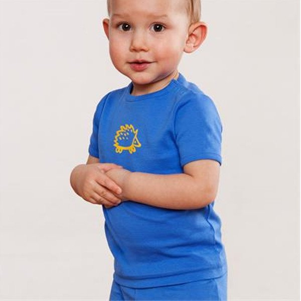 T-shirt boy short sleeve in organic cotton.