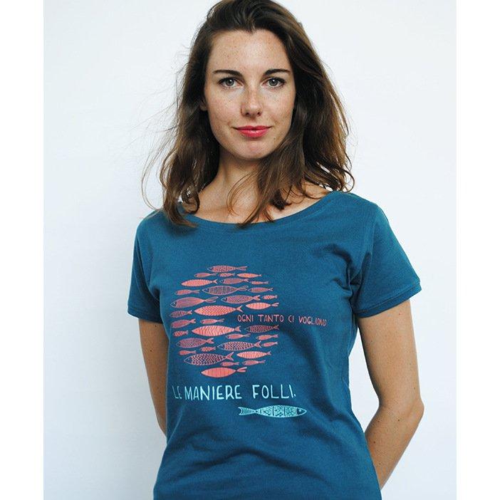 T-shirt Donna Maniere Folli in cotone biologico equo