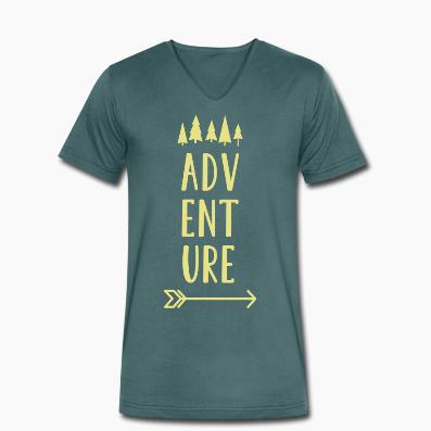T-shirt uomo in cotone biologico Adventure