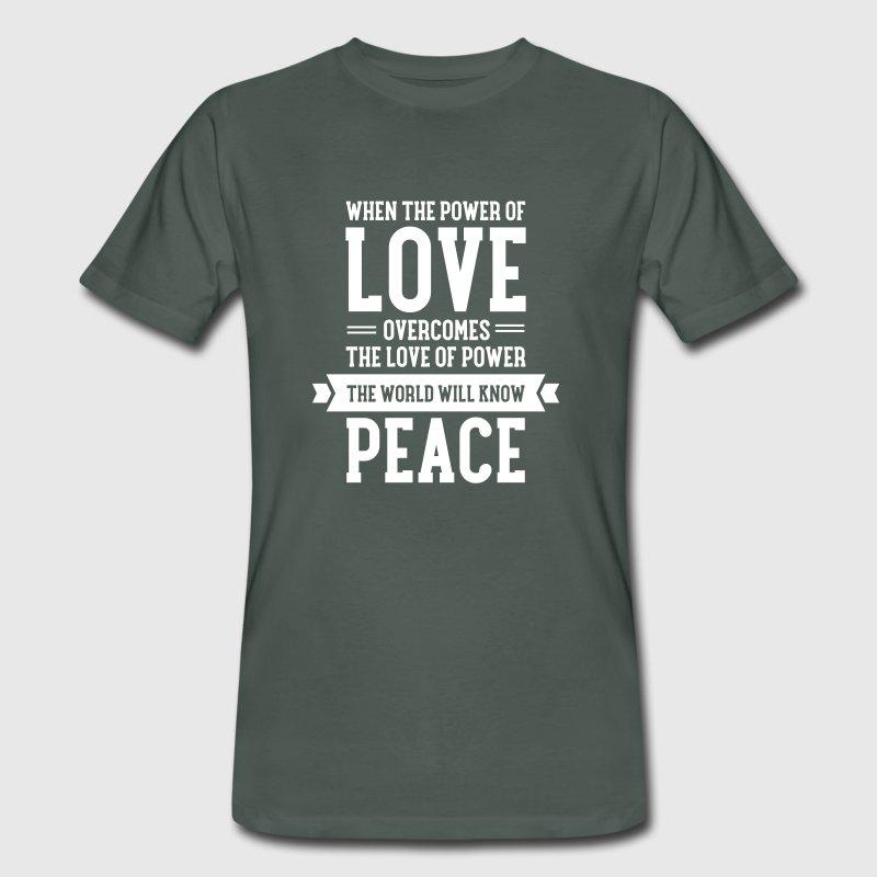 T-shirt uomo in cotone biologico Peace