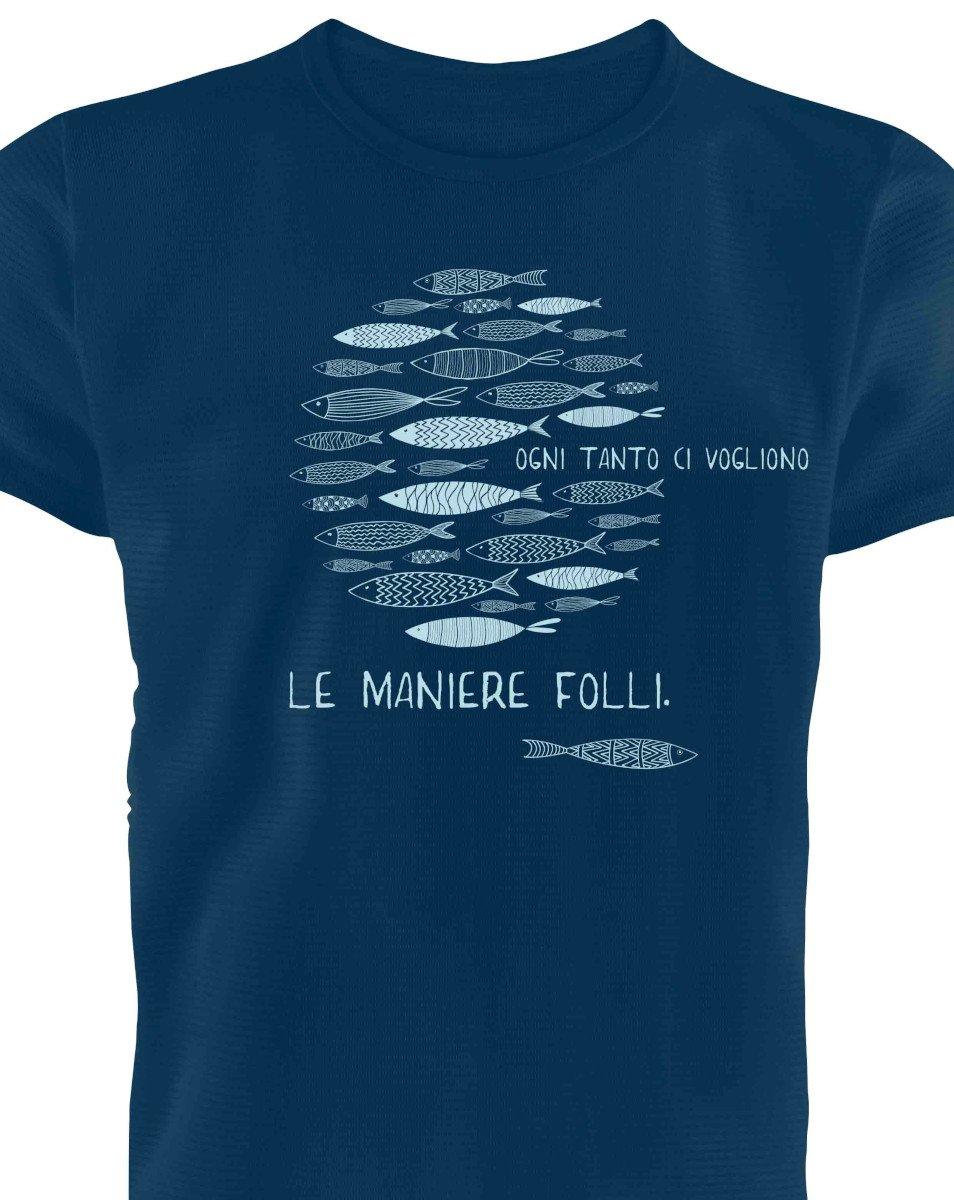 T-shirt Uomo Maniere Folli in cotone biologico equo