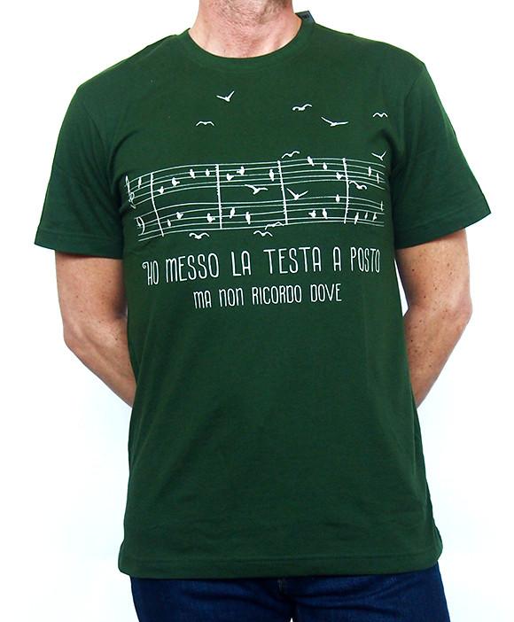 T-shirt Uomo Testa a Posto in cotone biologico equo