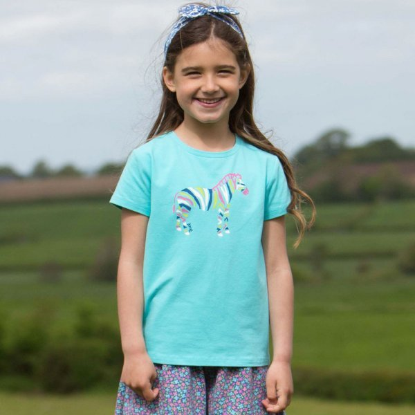 T-shirt Zebra in organic cotton