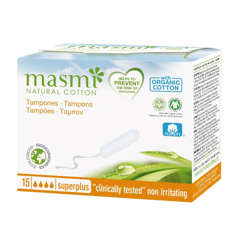 Tamponi senza applicatore SuperPlus in cotone biologico