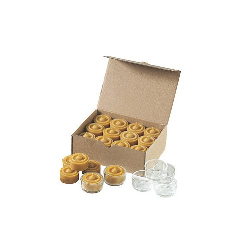 Tealights in pure beeswax