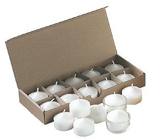 Tealights made of vegetable stearine