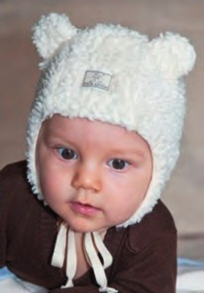 Teddy bear baby hat Lars in organic cotton