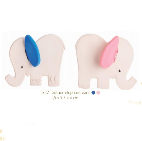Teether Lanco Elephant in natural rubber