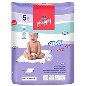 Telo per il cambio usa e getta 60x60cm Happy BellaBaby - 5 pezzi