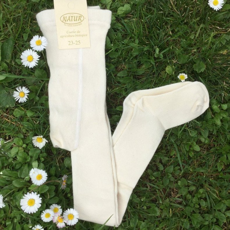 Tights in undyed organic cotton