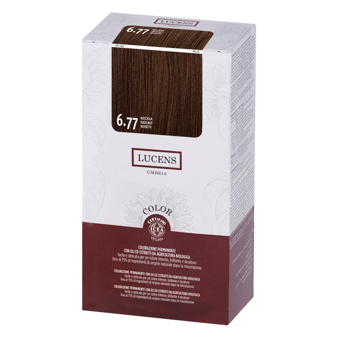 Tinta per Capelli 6.77 Nocciola - Biondo Scuro con riflesso Marrone caldo