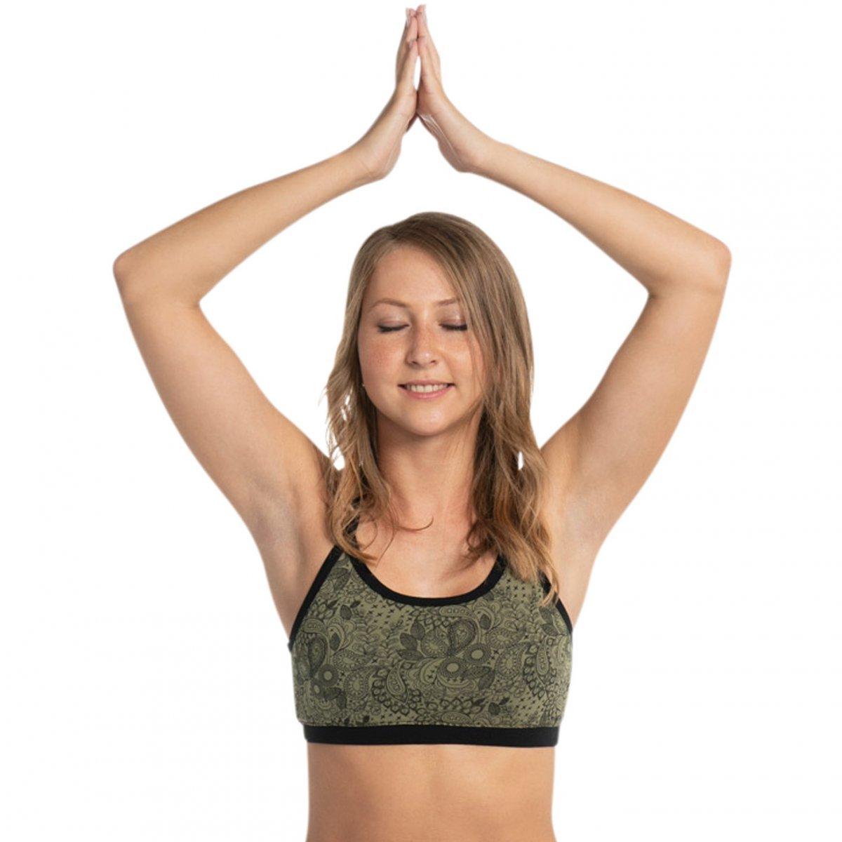 Top Reggiseno Yoga in cotone bio-equo