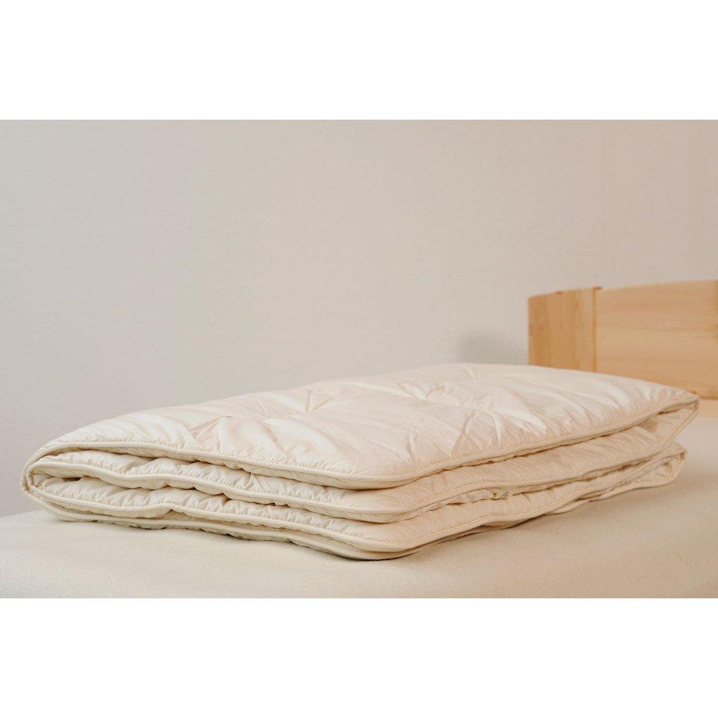 Trapunta Lettino in pura lana naturale