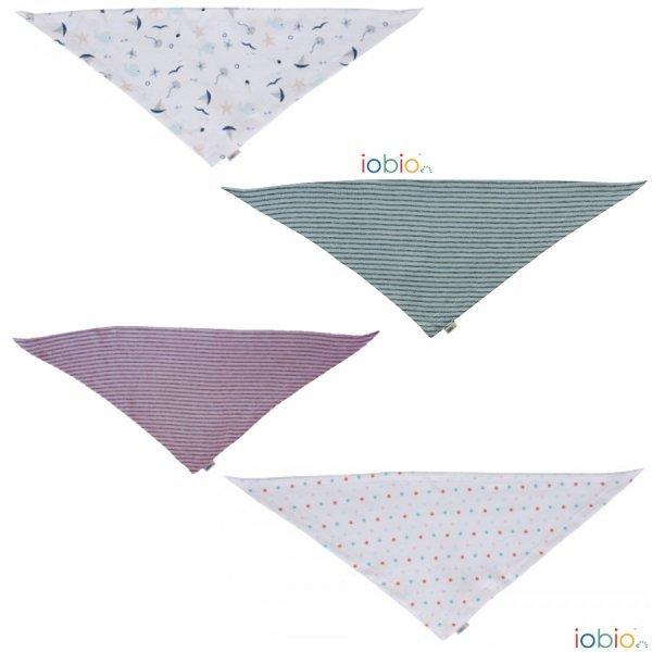 Sciarpina Triangolo bavaglino bandana cotone bio