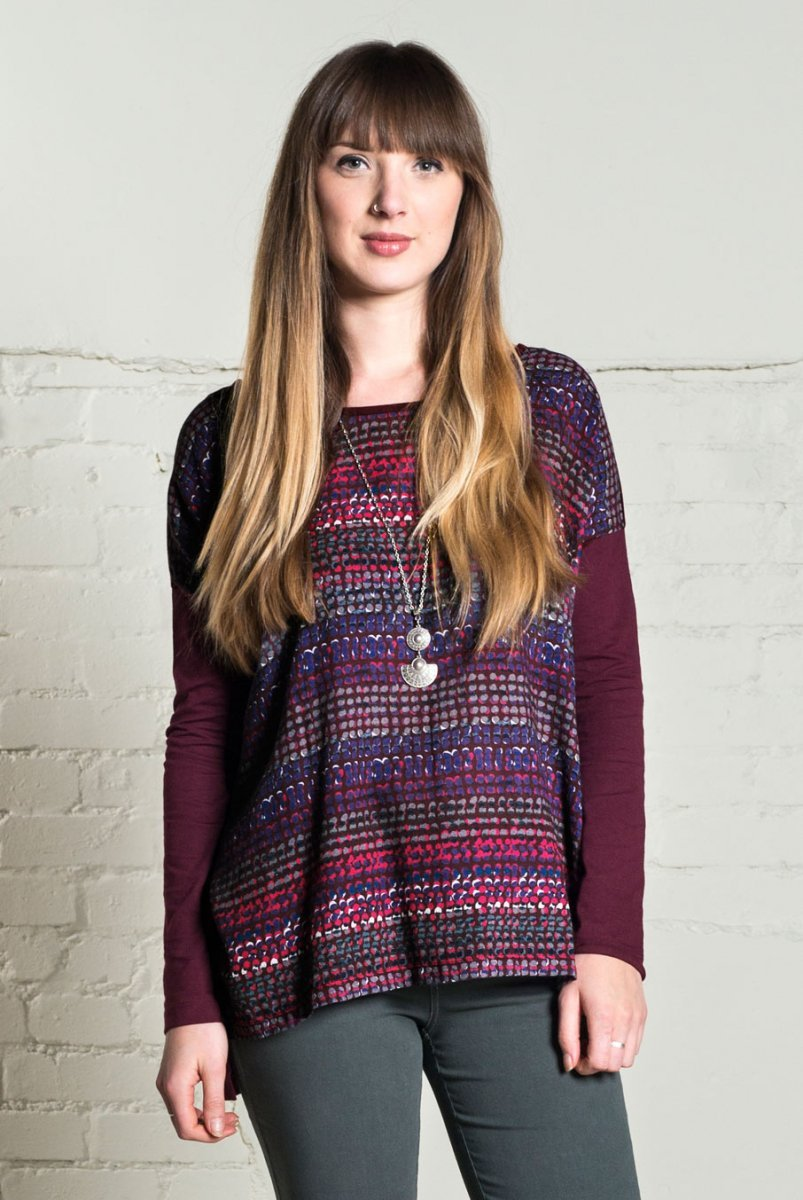 Seam detail tunic in organic cotton