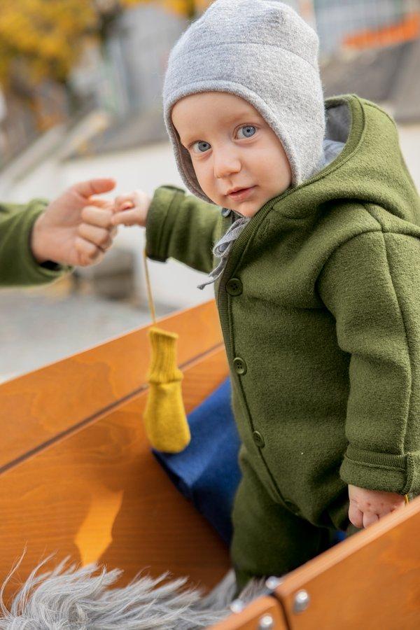 Tutona con cappuccio Disana in lana cotta