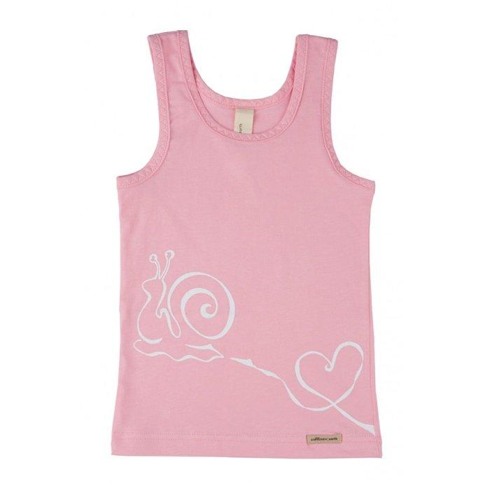 Underwear Pink vest in organic cotton.