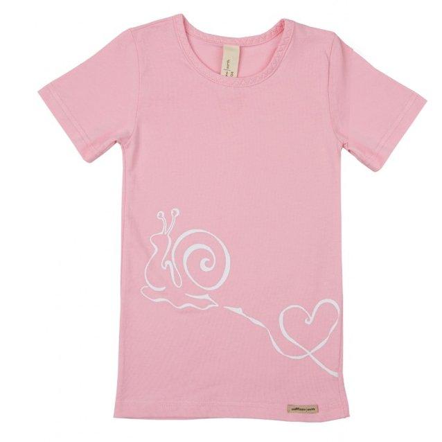 Underwear Pink t-shirt in organic cotton.