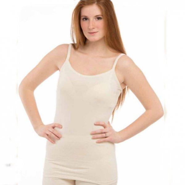 Underwear top thin straps in organic cotton