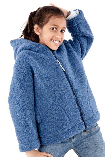 Unisex baby jacket in wool