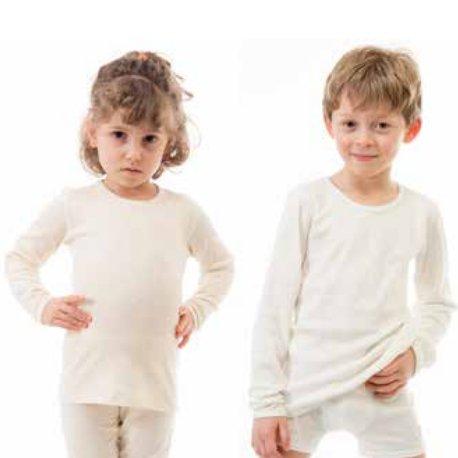 Unisex kids long sleeve vest