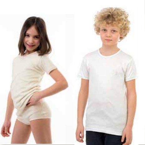Unisex kids short sleeve vest