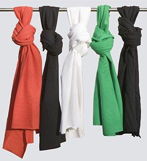 Unisex scarf in organic cotton