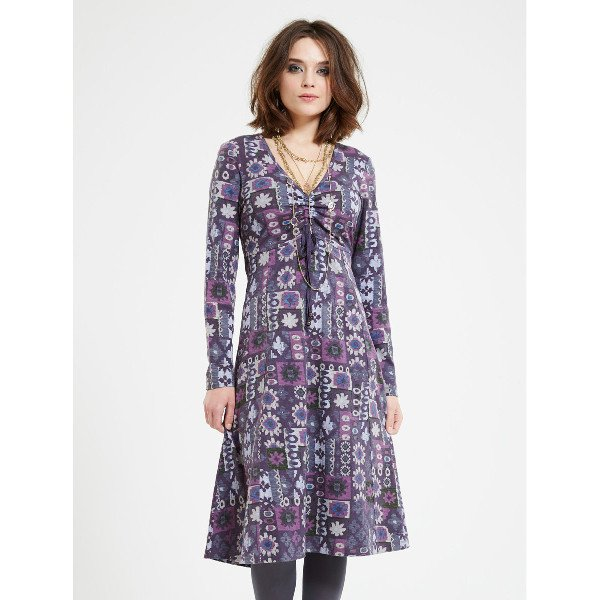 Rana ruched dress in organic cotton