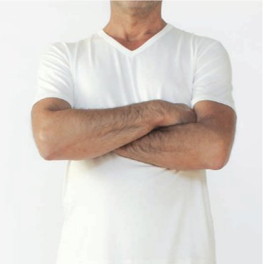 V-neck underwear man T in bamboo
