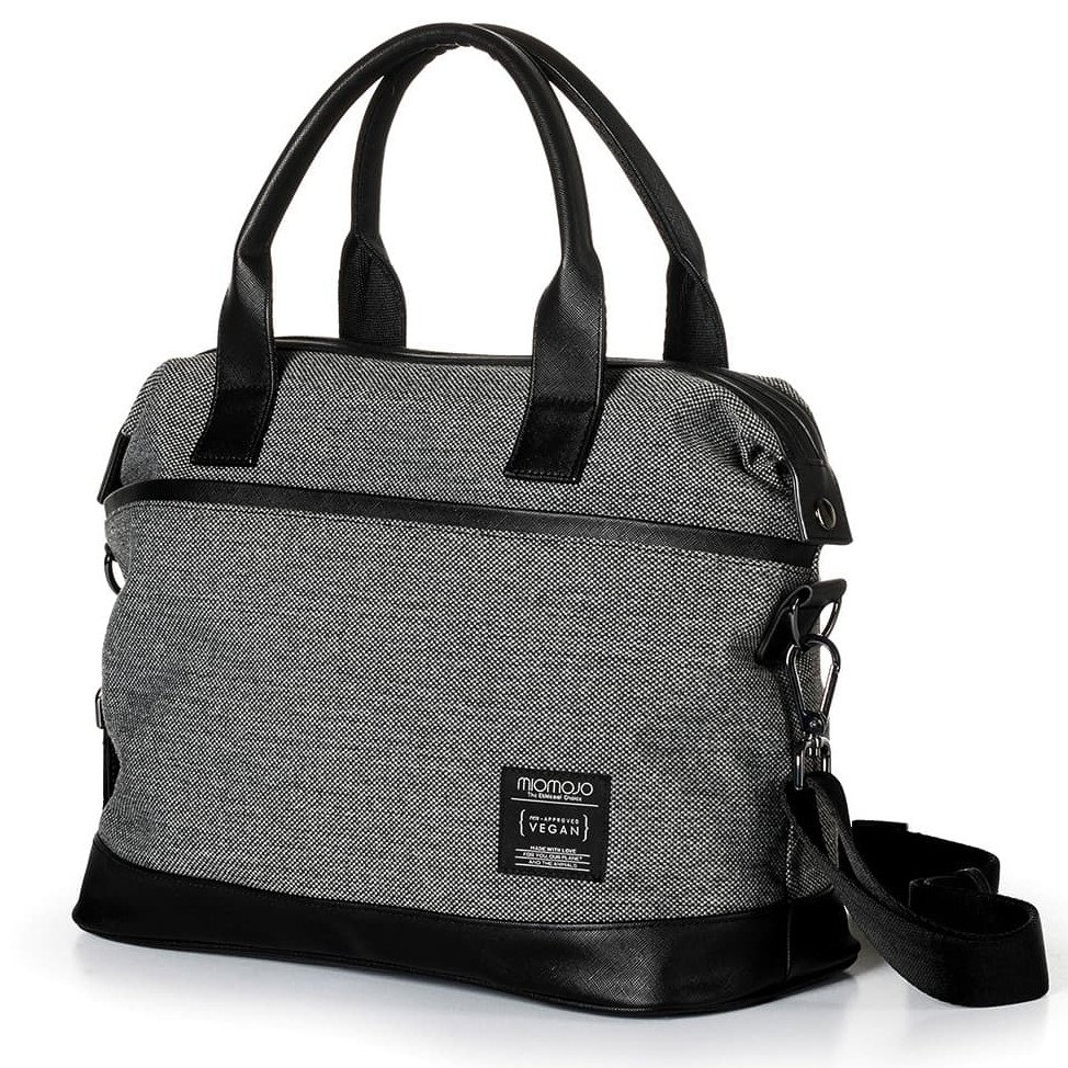 Vegan ESSENTIAL CITY BAG - DARK GREY