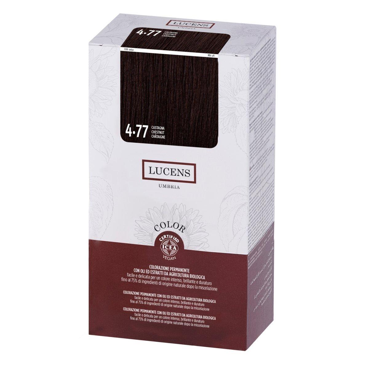 Tinta per Capelli 4.77 Castagna - Castano Caldo