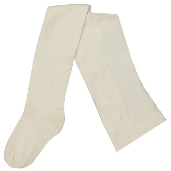 White tights in organic cotton