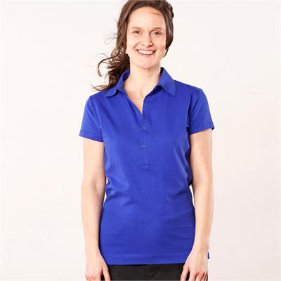 Woman polo shirt in organic cotton