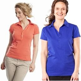 Woman polo shirt in organic cotton
