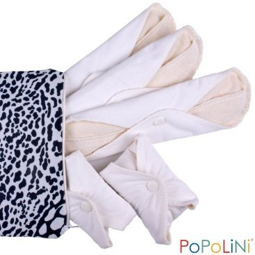 Woman reusable pads with waterproof side